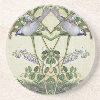 Asian Bird Wheat Wildflower Flower Animals Coaster