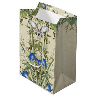 Asian Birds Floral Bamboo Wildlife Animal Gift Bag