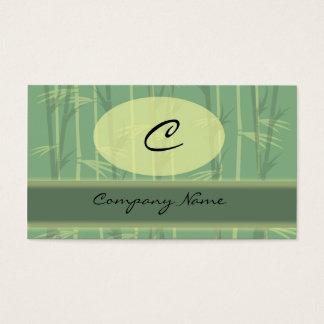 Asian Chic Monogram Business Card