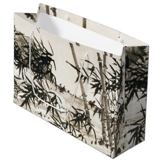 Asian Chinese Bamboo Leaves Large Gift Bag
