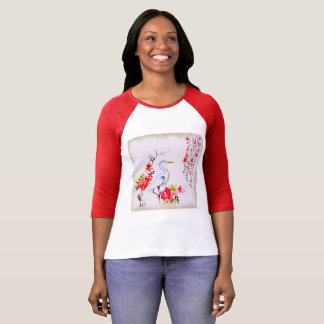 Asian Crane Painting T-Shirt
