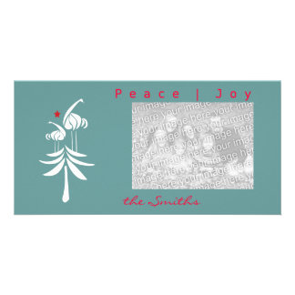 Asian cranes in tree holiday Photo Card