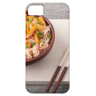 Asian dish of rice noodle and vegetable seasonings barely there iPhone 5 case