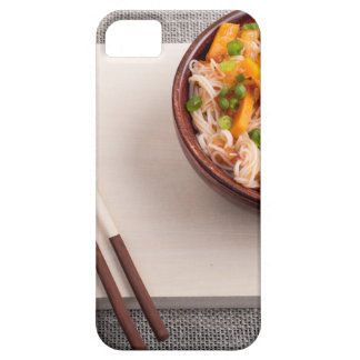 Asian dish of rice noodle in a small wooden bowl case for the iPhone 5