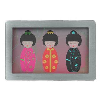 Asian Dolls Belt Buckle