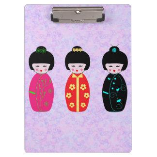 Asian Dolls Clipboard