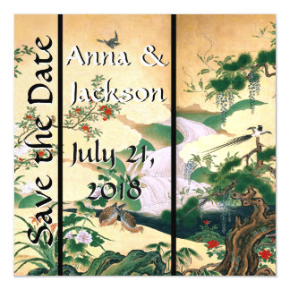 Asian Dove Waterfall Save Date Magnetic Card Magnetic Invitations