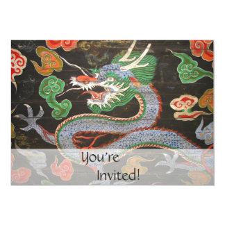 Asian Dragon Bright Colorful   Fantasy Art Card