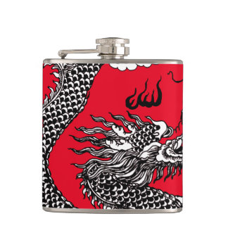 Asian Dragon Hip Flask