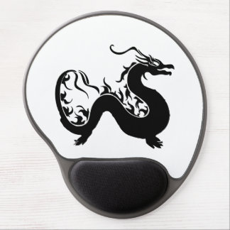 Asian Dragon Silhouette Gel Mouse Pad