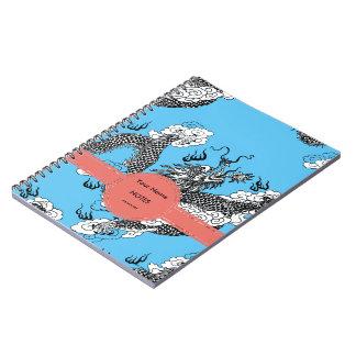 Asian Dragon Spiral Note Book