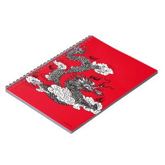 Asian Dragon Spiral Note Books