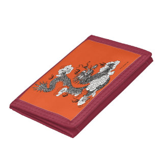 Asian Dragon Trifold Wallets