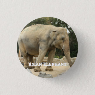 Asian Elephant 3 Cm Round Badge