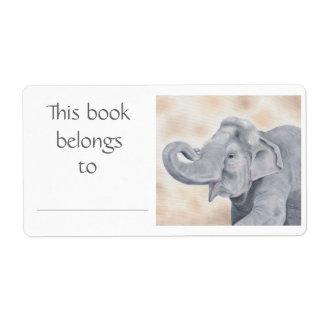 Asian Elephant book label