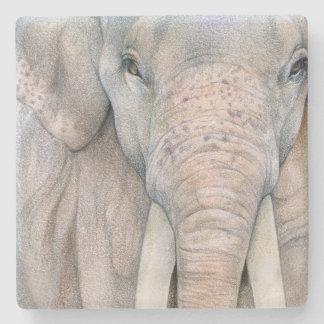 Asian Elephant Bull Stone Coaster