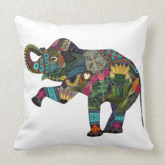 asian elephant white cushion