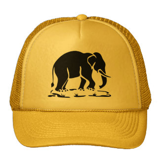 Asian Elephants Ahead Thai Elephant Trekking Sign Cap