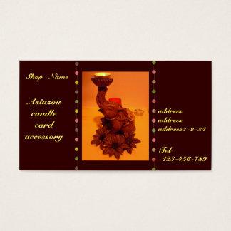 Asian elephants&flour&candle business card