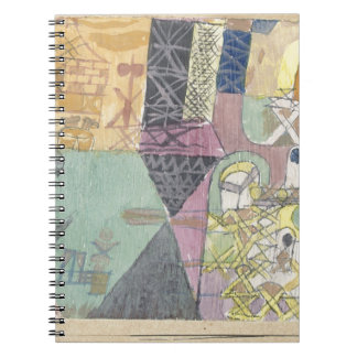 Asian entertainers by Paul Klee Notebook