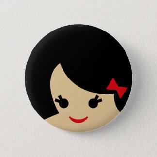 asian faces 1 6 cm round badge
