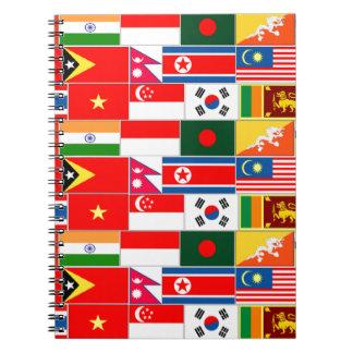 Asian Flags Spiral Notebook