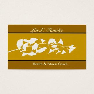 Asian Flare Ginkgo Business Card