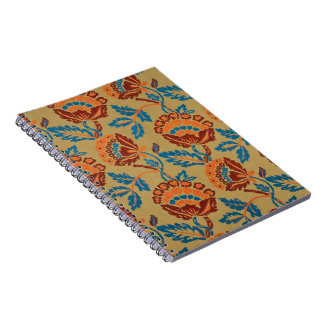 Asian Floral Spiral Note Book