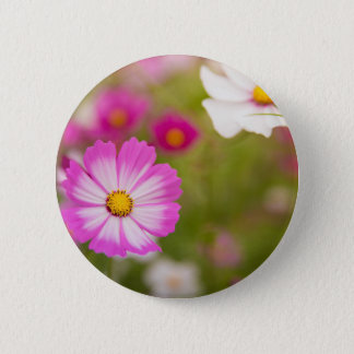 Asian flower 6 cm round badge
