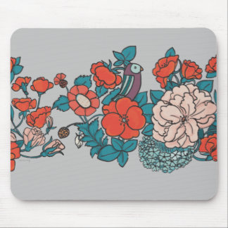 Asian flower sea mouse pad