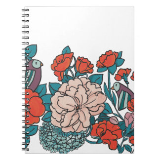Asian flowers notebook