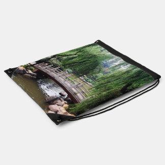 Asian Garden 1 Drawstring Bag