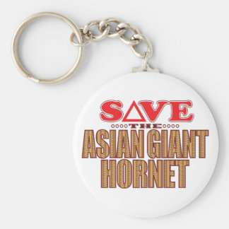 Asian Giant Hornet Save Basic Round Button Key Ring