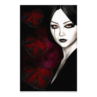 Asian gothic customised stationery