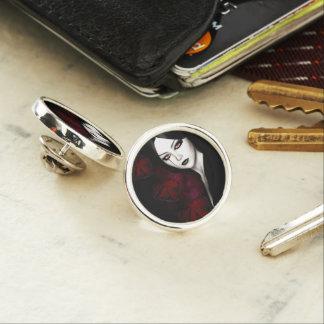 Asian gothic lapel pin