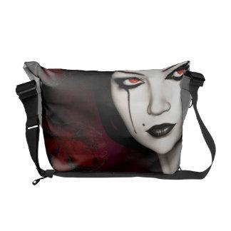 Asian gothic messenger bag