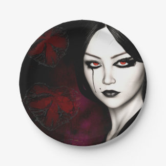 Asian gothic paper plate
