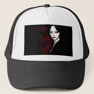 Asian gothic trucker hat