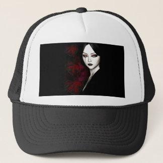 Asian gothic trucker hat