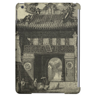 Asian Imperial Temple in Black & White