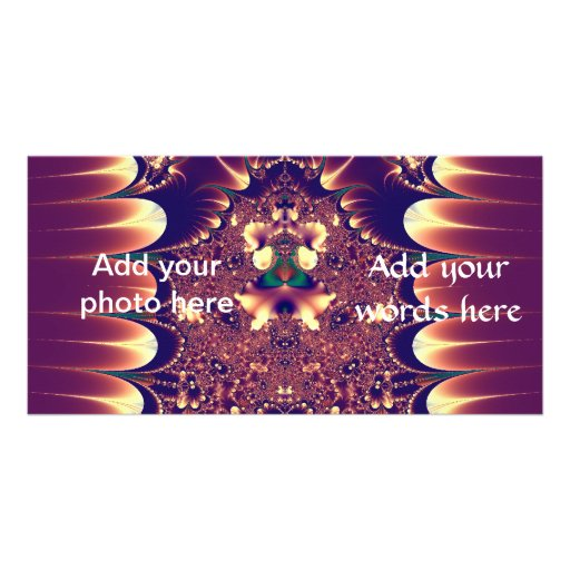Asian Influence Fractal Photo Cards