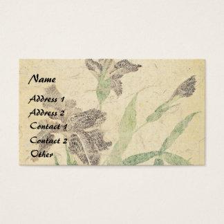 Asian Iris Flowers Floral Garden Business Card