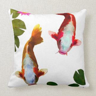 Asian Koi Fish Carp Fantasy Eastern Throw Pillow