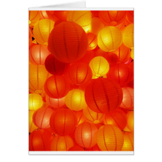 Asian Lanterns Card