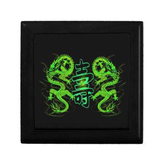 Asian Long Life Green Dragon Gift Box