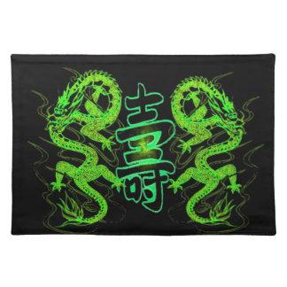 Asian Long Life Green Dragon Placemat
