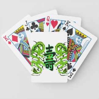 Asian Long Life Green Dragon PNG Bicycle Playing Cards