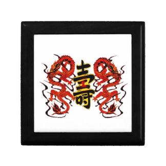 Asian Long Life Red Dragon PNG Gift Box