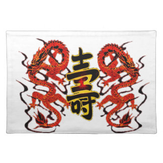 Asian Long Life Red Dragon PNG Placemat