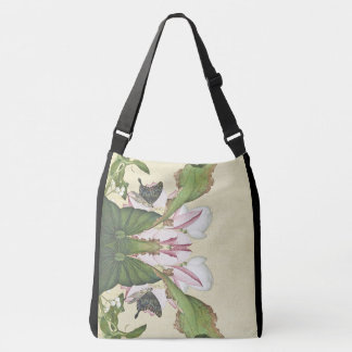 Asian Lotus Flower Butterfly Waterlily Tote Bag